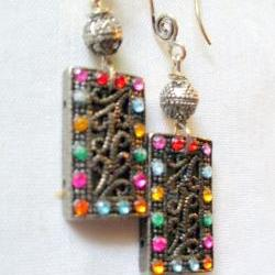marcasite and rhinestone earrings